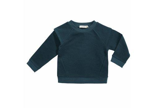 Phil & Phae Phil & Phae Epaulette sweater deep teal