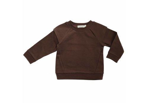 Phil & Phae Phil & Phae Epaulette sweater cocoa