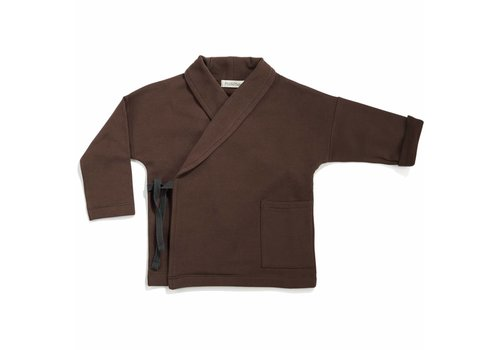 Phil & Phae Phil & Phae Cross-over sweat jacket cocoa