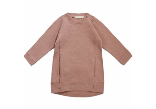 Phil & Phae Phil & Phae Sweater dress slub dusty blush