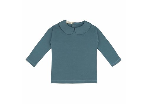 Phil & Phae Phil & Phae Kids collar tee balsam blue