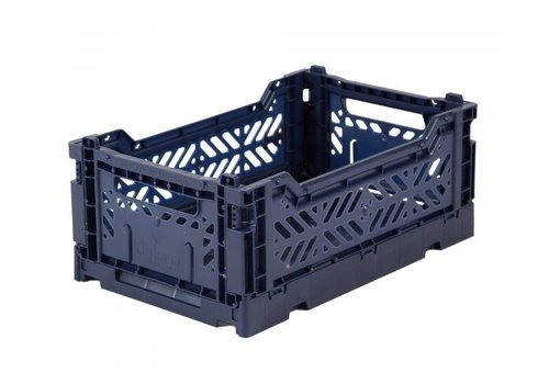 Ay-Kasa Folding crate mini navy