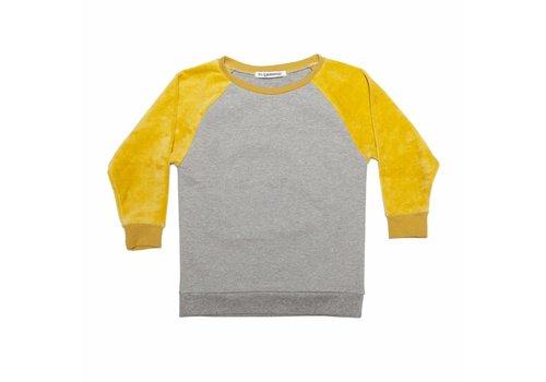 Mingo Mingo Sweater velvet grey/sauterne
