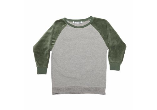 Mingo Mingo Sweater velvet grey/green duck