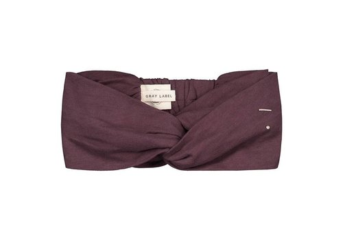 Gray label Gray Label twist haarband plum