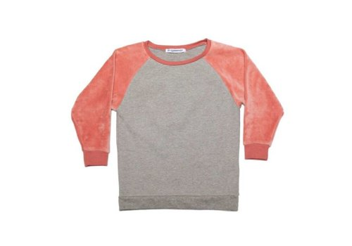 Mingo Mingo Sweater velvet grey/raspberry