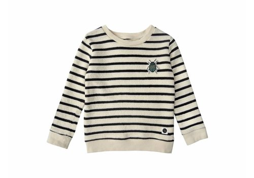 Sproet & Sprout Sproet & Sprout sweater beetle badge stripe