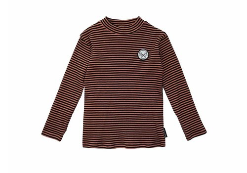 Sproet & Sprout Sproet & Sprout turtle neck marshmallow badge cedar stripe