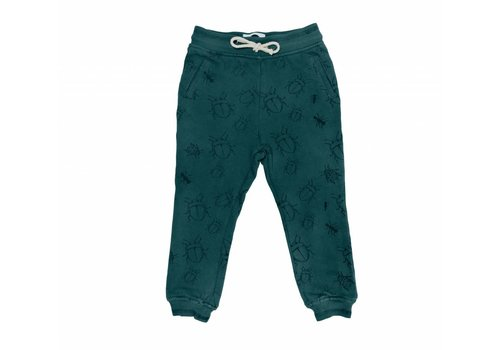 Sproet & Sprout Sproet & Sprout sweat pants bugs allover dark forrest green