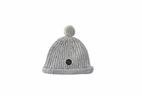 Sproet & Sprout Sproet & Sprout beanie pompon light grey melee