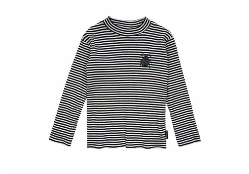 Sproet & Sprout Sproet & Sprout turtle neck longsleeve beetle back milk stripe