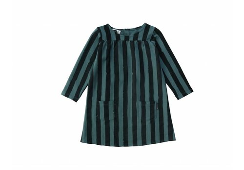 Sproet & Sprout Sproet & Sprout sweat dress black/forrest green stripe