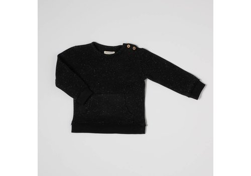 Nixnut Nixnut kangaroo sweater black