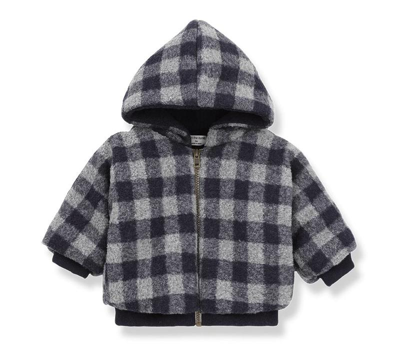 1 + in the family harper jacket blue/grey