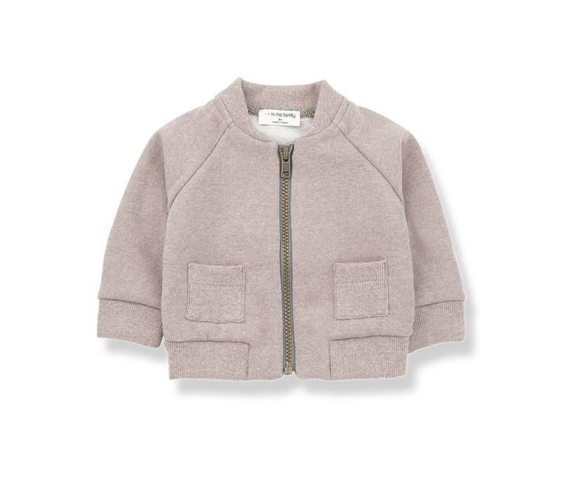 1 + in the family robin fleece jacket rose