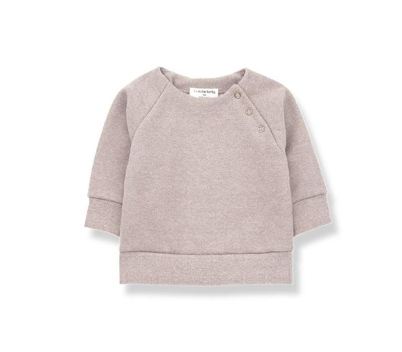 1 + in the family mandy sweatshirt fleece rose