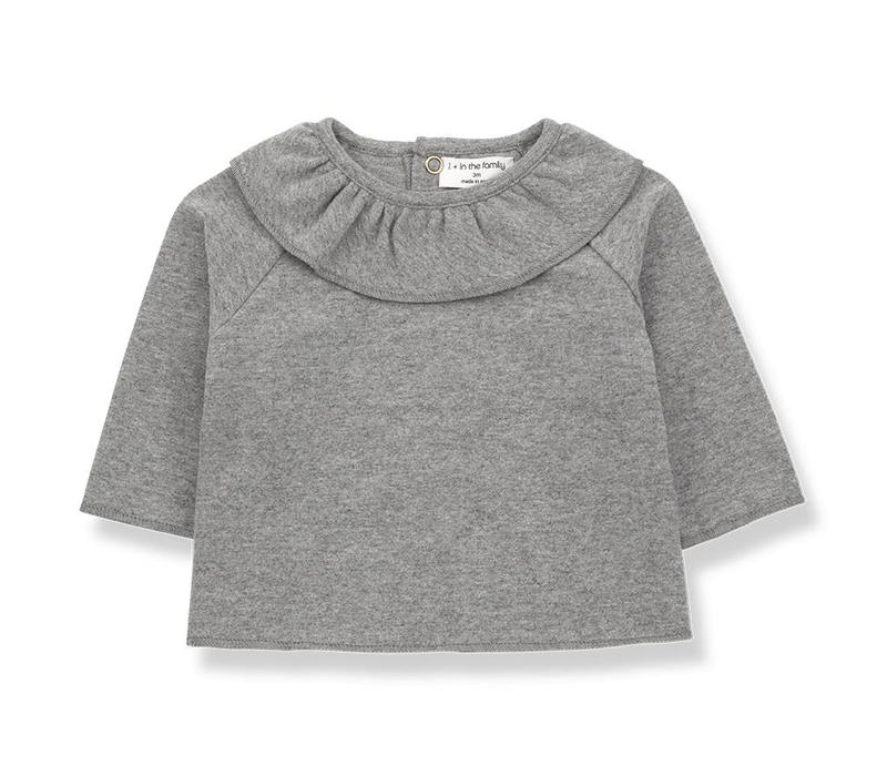 1 + in the family clementina blouse mid grey