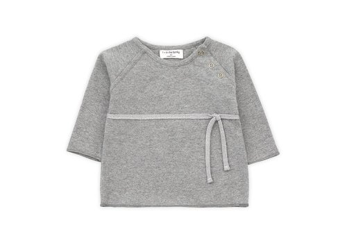 1 + in the family 1 + in the family newborn shirt cuca mid grey