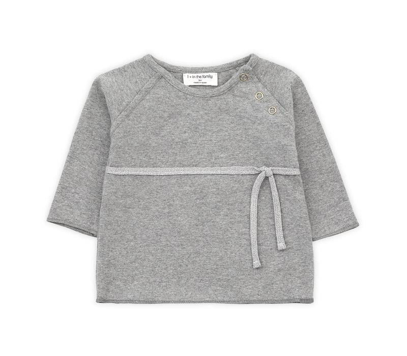 1 + in the family newborn shirt cuca mid grey