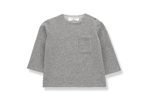 1 + in the family 1 + in the family  oriol t-shirt mid grey