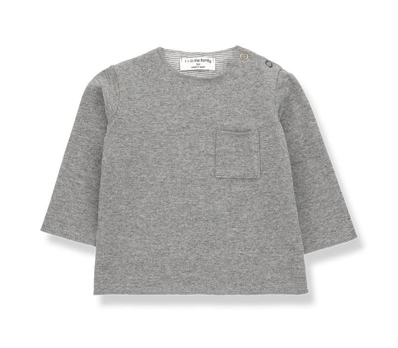 1 + in the family  oriol t-shirt mid grey