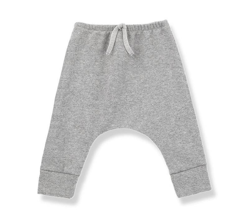 1 + in the family jay fleece pants light grey
