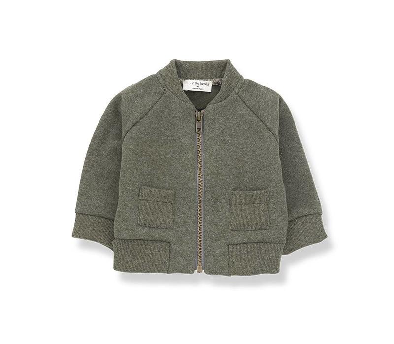 1 + in the family robin fleece jacket khaki