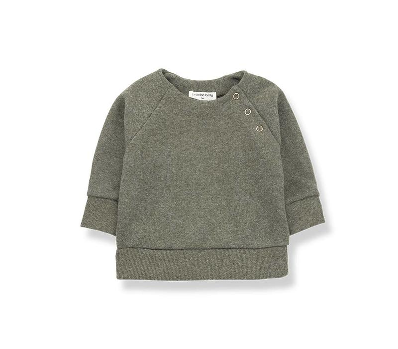 1 + in the family mandy sweatshirt fleece khaki