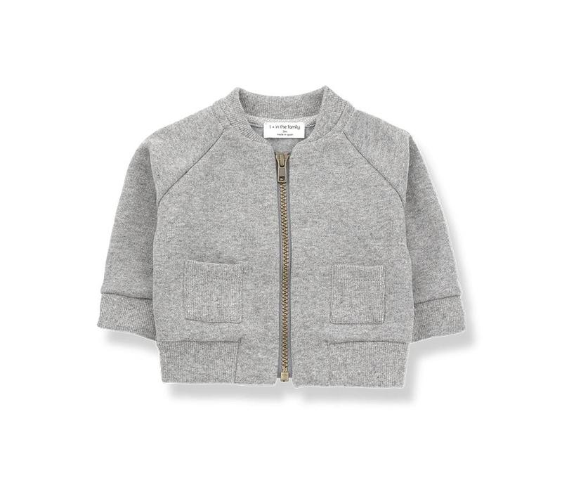 1 + in the family robin fleece jacket light grey