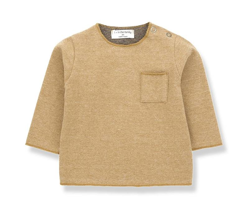 1 + in the family  oriol t-shirt ochre