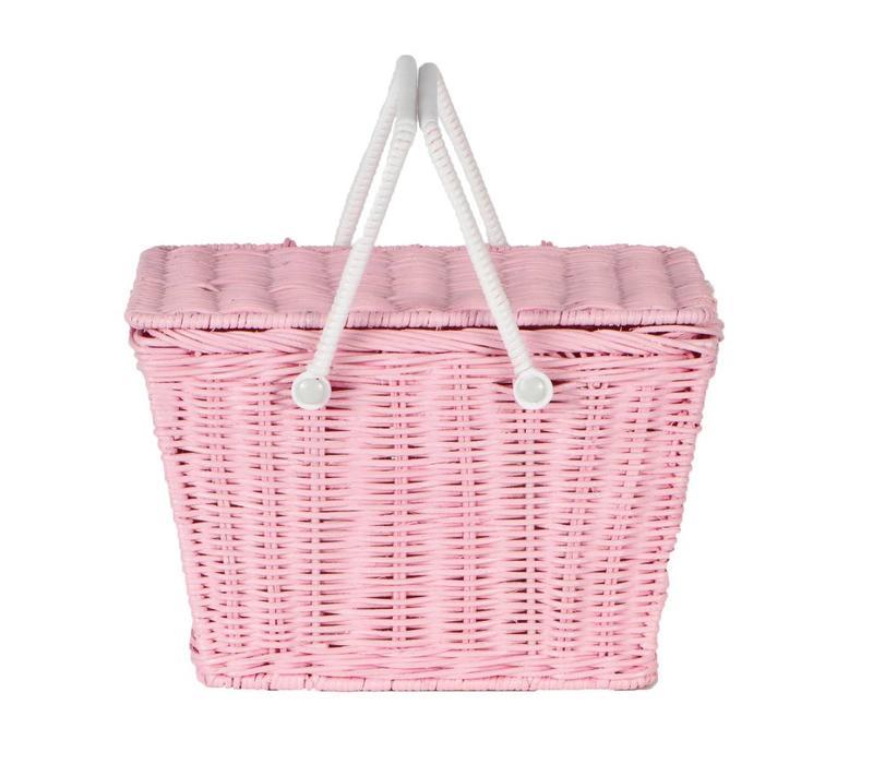 Olli Ella piki picnic basket pink