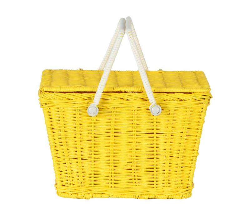Olli Ella piki picnic basket yellow