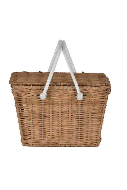 Olli Ella piki picnic basket natural