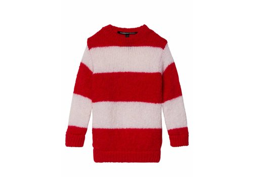 10 Days 10 Days sweater red white striped