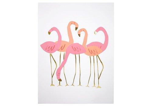 Meri Meri Meri Meri Flamingo poster set