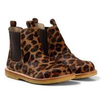 Angulus Chelsea boot narrow leo pony brown