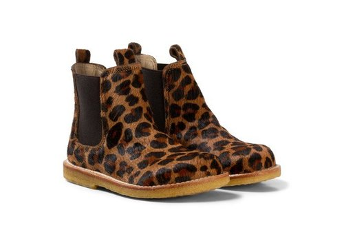 Angulus Angulus Chelsea boot narrow leo pony brown