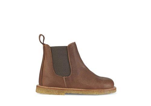 Angulus Angulus Chelsea boot narrow dark cognac dusty