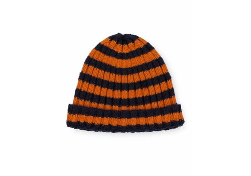 Bobo Choses Bobo Choses beanie orange striped