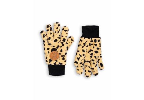 Mini Rodini Mini Rodini handschoenen fleece spot beige