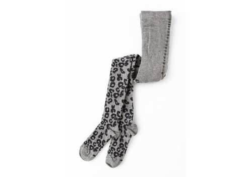 Tocoto vintage Tocoto vintage tights animal print grey