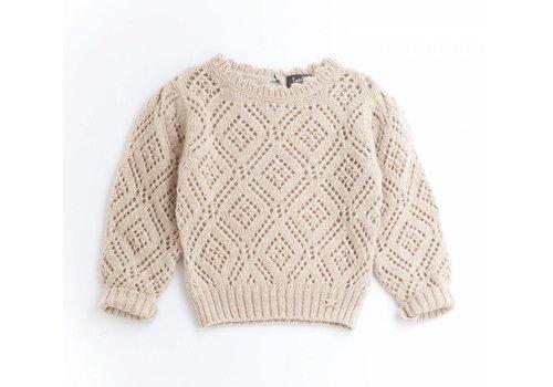 Tocoto vintage Tocoto vintage knit lace sweater