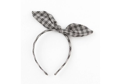 Tocoto vintage Tocoto vintage hairband checkered grey