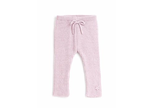 Tocoto vintage Tocoto vintage knitted ribbed pants pink