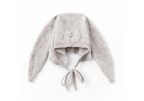 Tocoto vintage Tocoto vintage rabbit ears bonnet grey