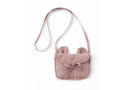 Tocoto vintage Tocoto vintage bag stars bear pink
