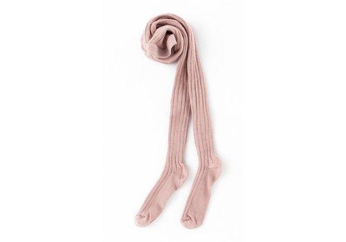 Tocoto vintage Tocoto vintage tights ribbed pink