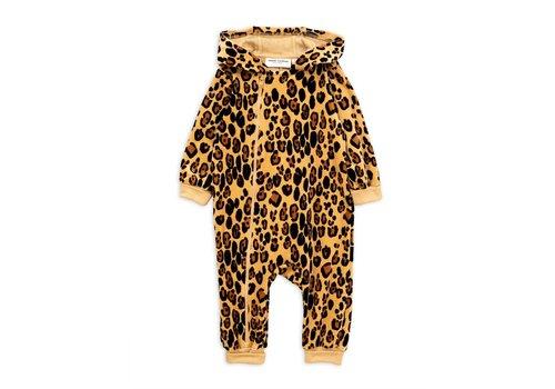 Mini Rodini Mini Rodini leopard velour onesie