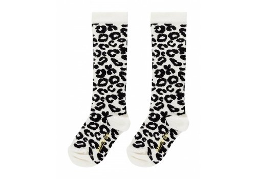 Maed for mini Maed for mini Knee socks white leopard