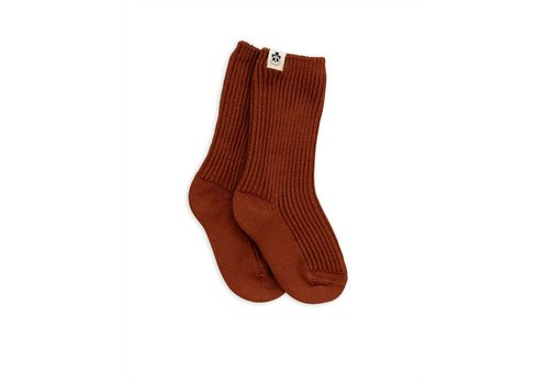 Mini Rodini Mini rodini socks wol bruin
